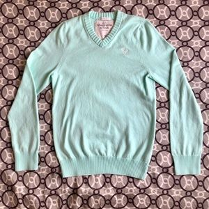 Abercrombie and Fitch blue/green pastel sweater